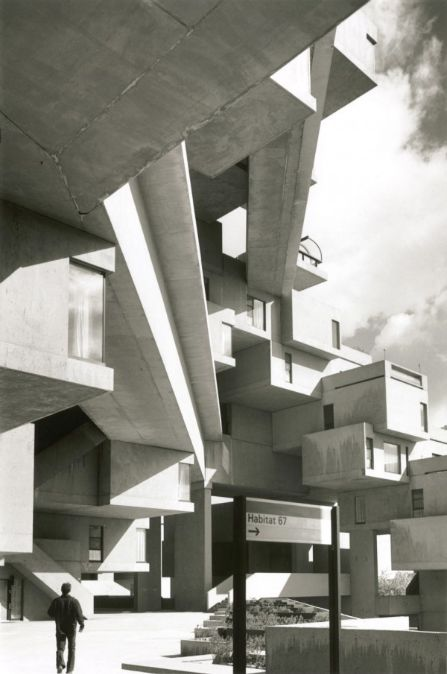 Habitat 67, Montréal by Moshe Safdie, one of the truly strangest and dehumanizing exteriors you will ever see.