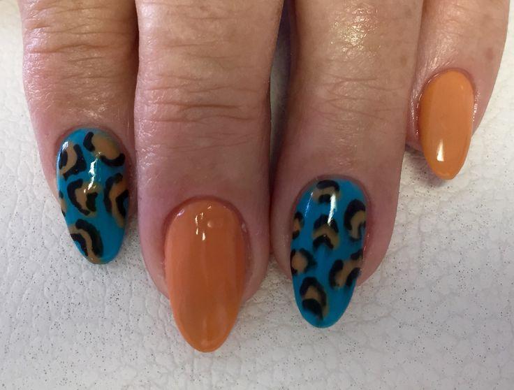 orange t rkises farbgel shellac leoparden muster schwarz black n gel nails wimpernextensions. Black Bedroom Furniture Sets. Home Design Ideas