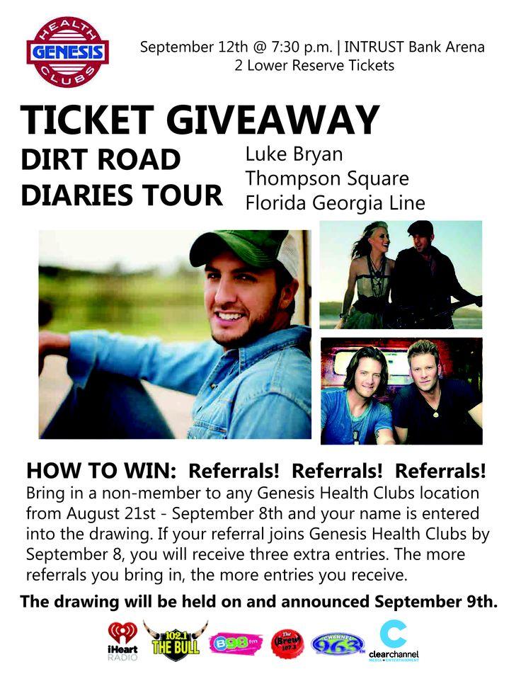 Get entered to win FREE Luke Bryan tickets!