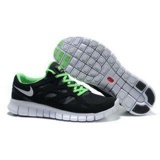 Billig imitasjon Menn Nike Free Run Plus 2 Svart Grønn
