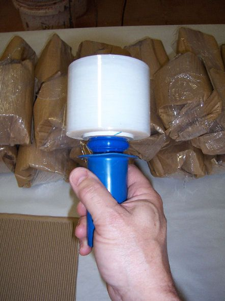 How to pack pottery for shipping. from Out of the Fire Pottery Studio Stretch film plastic is used instead of tape