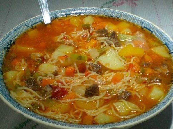 Receita de Sopa de Carne da Vovó - Receita Toda Hora