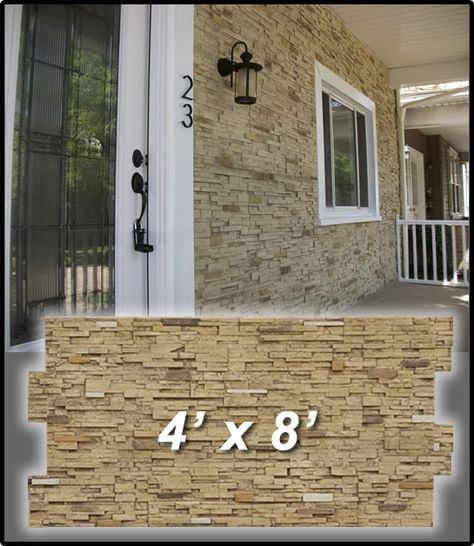 Faux Stone Sheets Exterior House Ideas In 2019 Faux