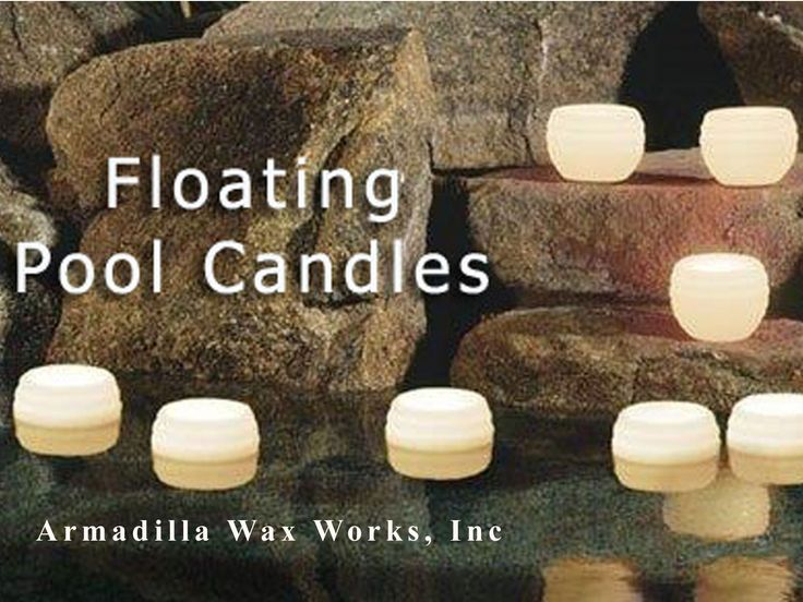 Luminary Floating Pool Candles - ` original designs for table top or floating in the pool or pond. Inner core can be refilled with a new candle so you can use the luminary over and again.