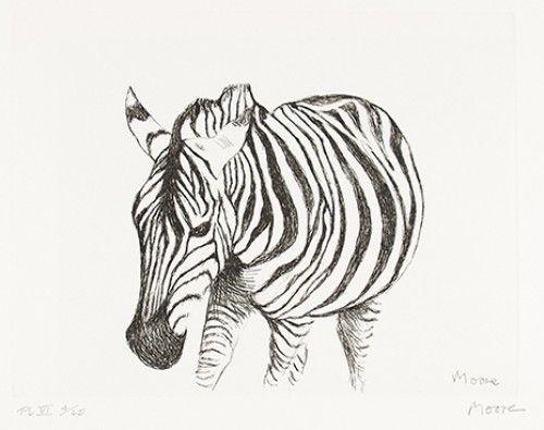 MOORE, Henry (1898-1986). Zebra.