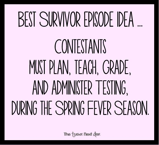 Tough for sure! Find more teacher humor and observations that might make you laugh on The Teacher Next Door's Teacher Humor Pinterest Board.