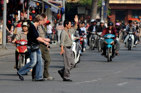 Free things to do in Hanoi that give you a thrill.. cross the road on foot