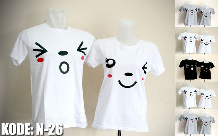 Jual kaos couple, grosir kaos couple murah bahan cotton combed . Murah ...