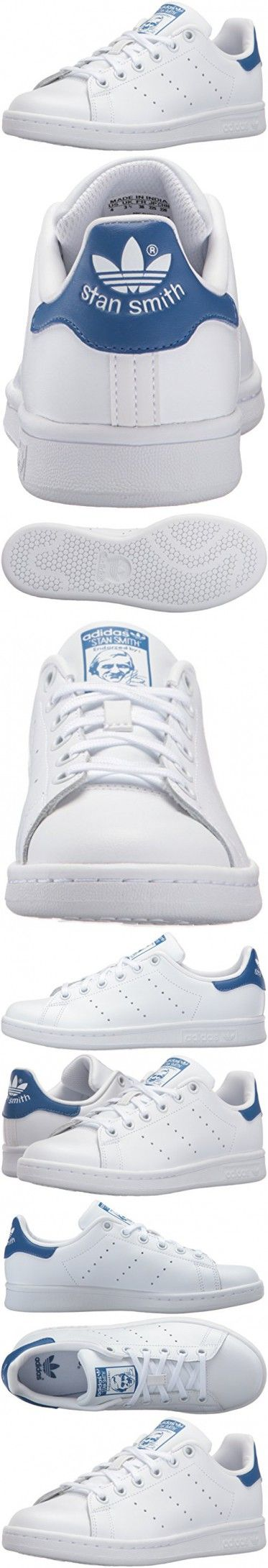 Adidas Originals Boys\u0027 Stan Smith J Skate Shoe, White/White/Equipment Blue