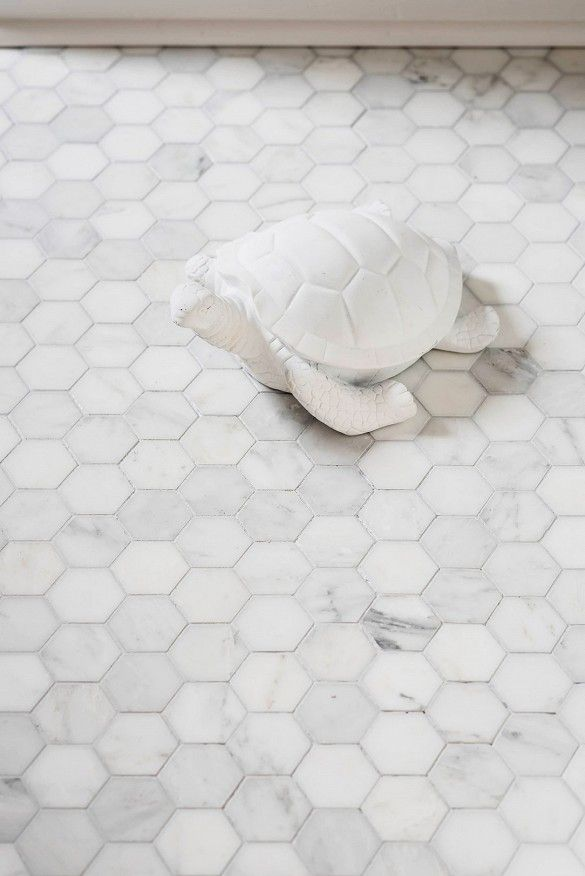 White Bathroom Floor Tile satin white bathroom floor tile in a herringbone design royal satin white marble subway tile Before And After An Affordable Black And White Bathroom