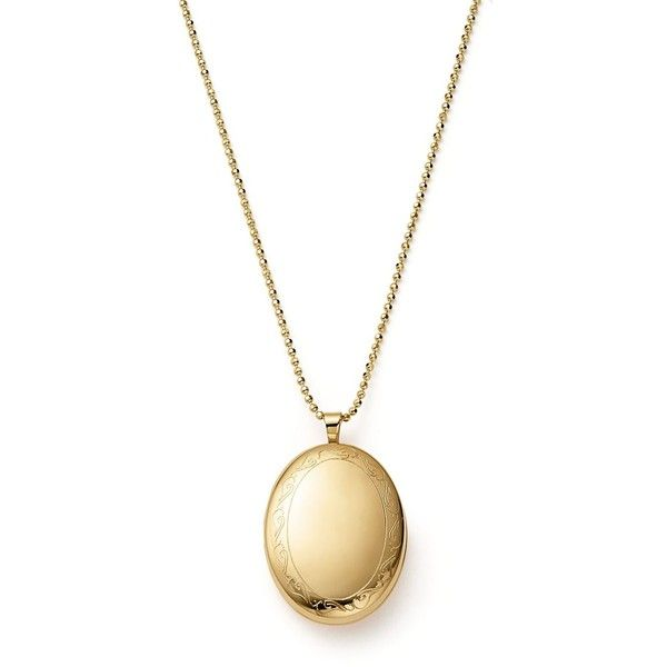 14K Yellow Gold Oval Swirl Locket Necklace, 22 ($950) ❤ liked on Polyvore featuring jewelry, necklaces, gold, oval locket, gold oval locket, gold jewelry, engraved necklaces and 14k necklace