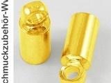 10 Endkappen, 3mm innen, gold(ID 392)... 0.15€ pro stk