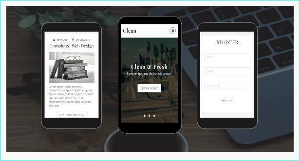 31 mejores imágenes de Creative HTML Mobile Website Templates en ...