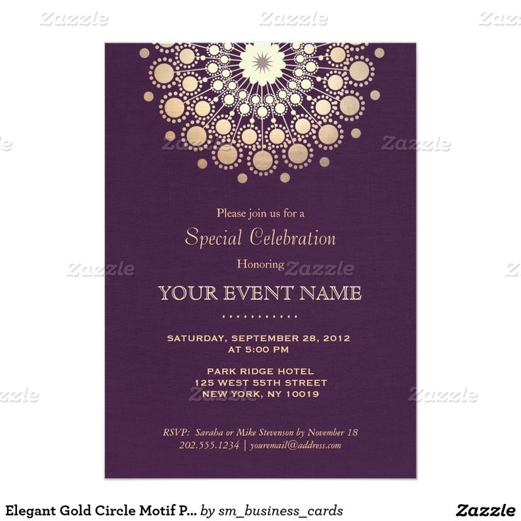 1084 best exceptional wedding invites images on pinterest wedding elegant gold circle motif purple linen look formal 5x7 paper invitation card artwork designed by stopboris Choice Image