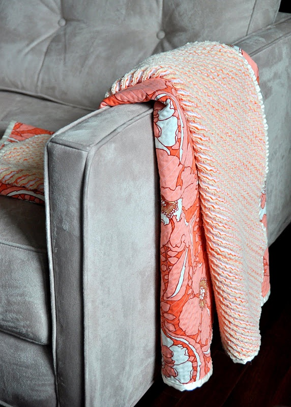 chenille blanket tutorial from the aesthetic nest--such a cool way to do the back of a quilt