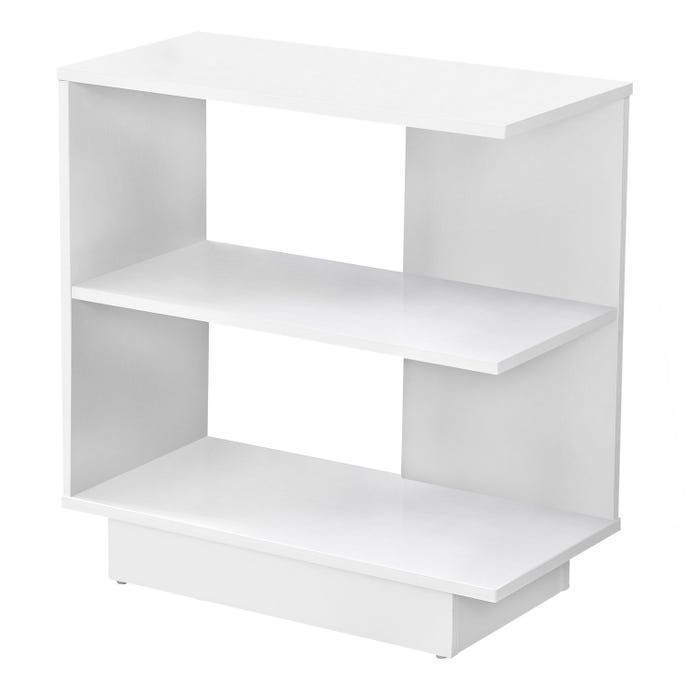 Monarch Table D Appoint Meubles Rd White Accent Table White End Tables Open Shelving