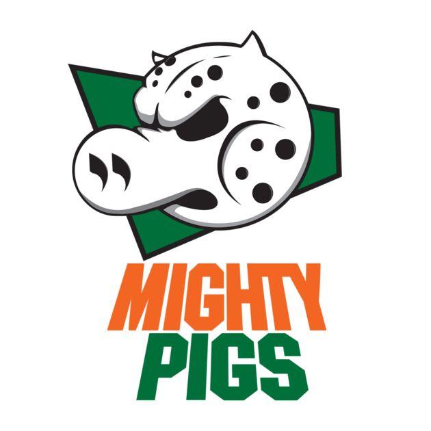 Mighty pigs simpsons hockey t shirt