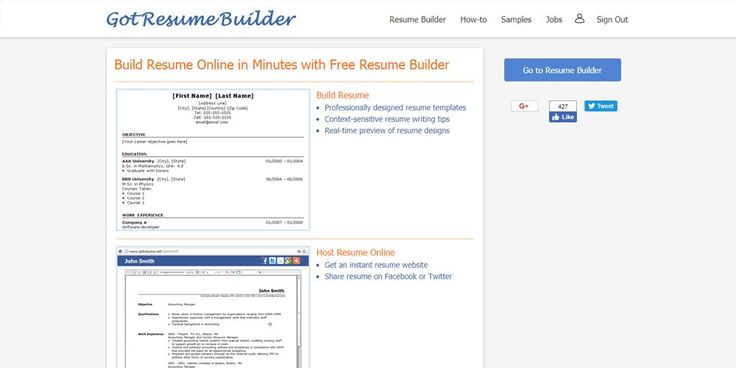 Uptowork Resume Builder Online Resume Builders Pinterest - build a resume online