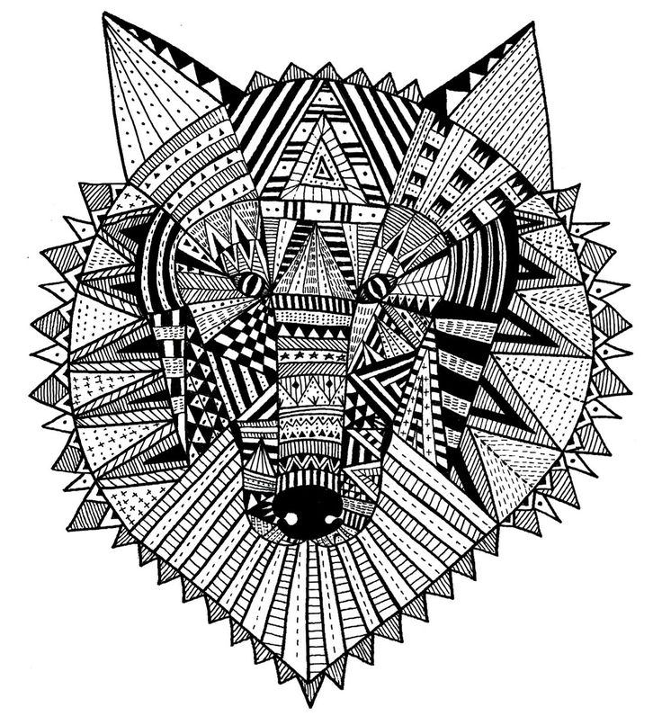 intricate wolf pup coloring pages - photo#25