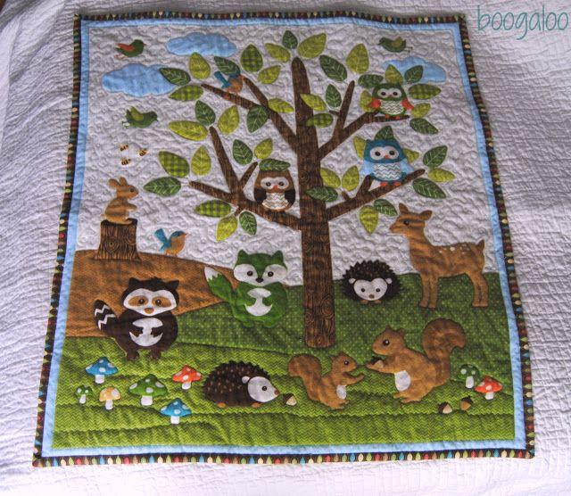 Woodland Quilt, Forest Quilt