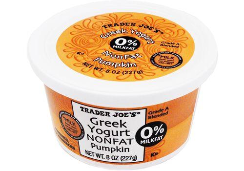 Trader Joe's | Nonfat Greek Yogurt Pumpkin | 8oz/227g $1.29 #traderjoes #greekyogurt #pumpkin