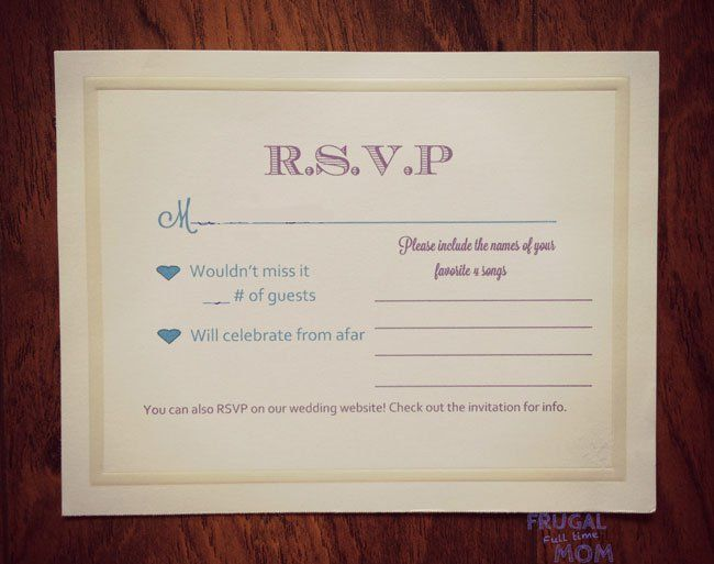 1000 ideas about Wedding Reply Cards on