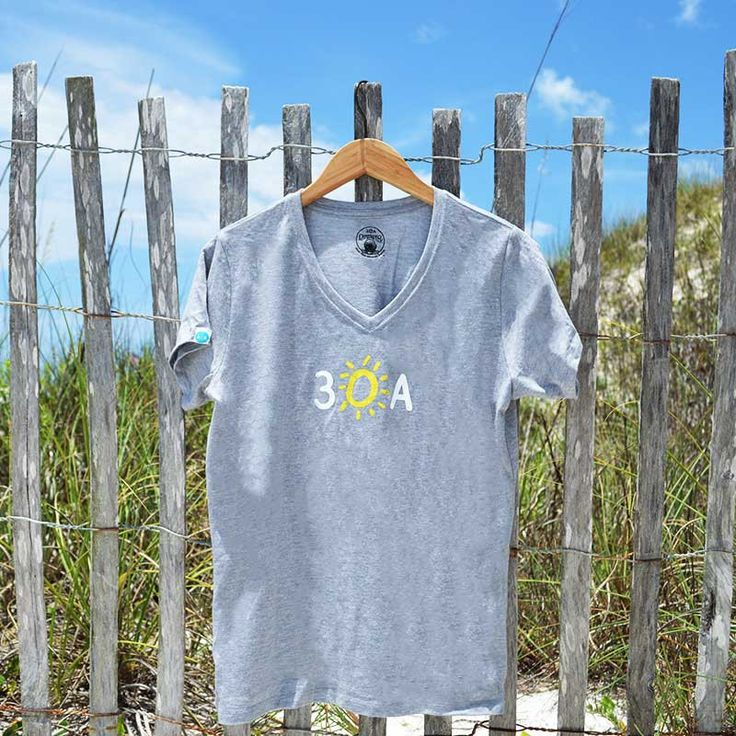 women's hand-drawn 30A recycled shirt