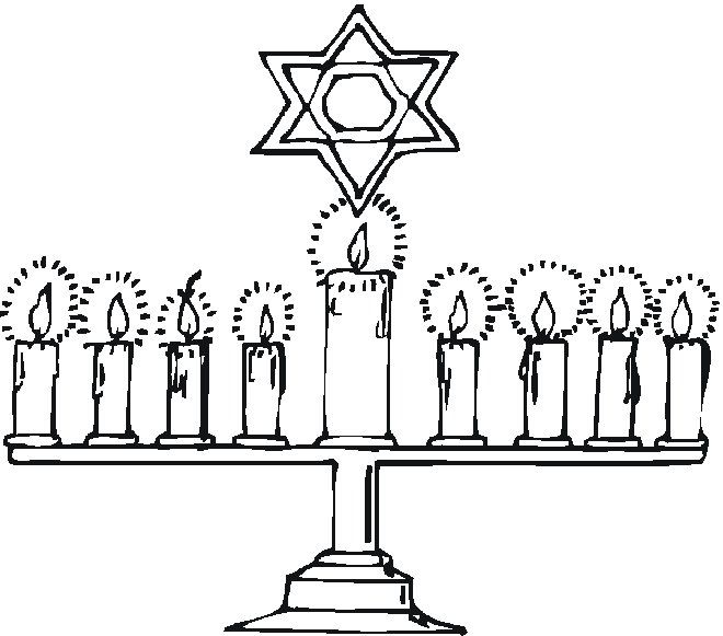 free hanukkah coloring pages