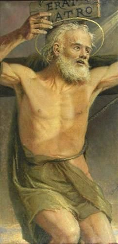 """Glorious Saint Dismas, you alone of all the great Penitent Saints were directly canonized by Christ Himself."" May we, too, someday hear those words ourself.  Saint Dismas, by the Maltese painter Lazzaro Pisani (1854-1932)"