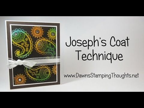 Joseph's Coat Technique video (Dawns stamping thoughts Stampin'Up! Demonstrator Stamping Videos Stamp Workshop Classes Scissor Charms Paper Crafts)