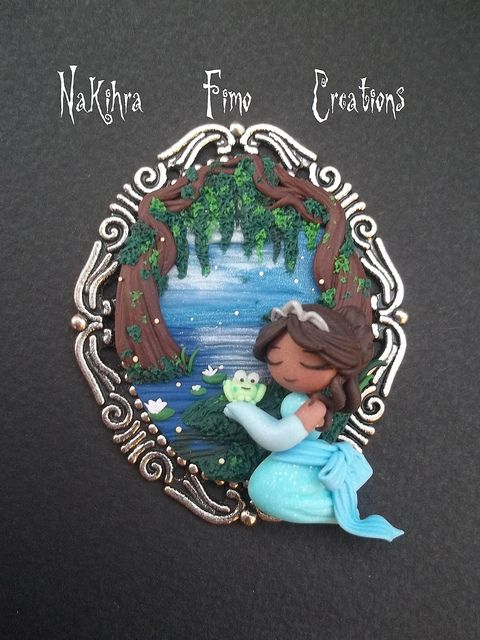 The Princess And The Frog Cammeo Polimer Clay | Flickr - Photo Sharing!