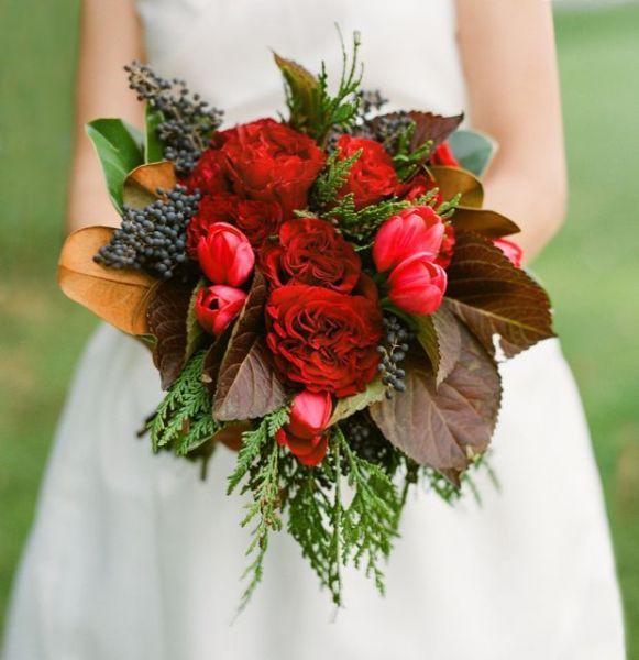 Brautsträuße in Rot.