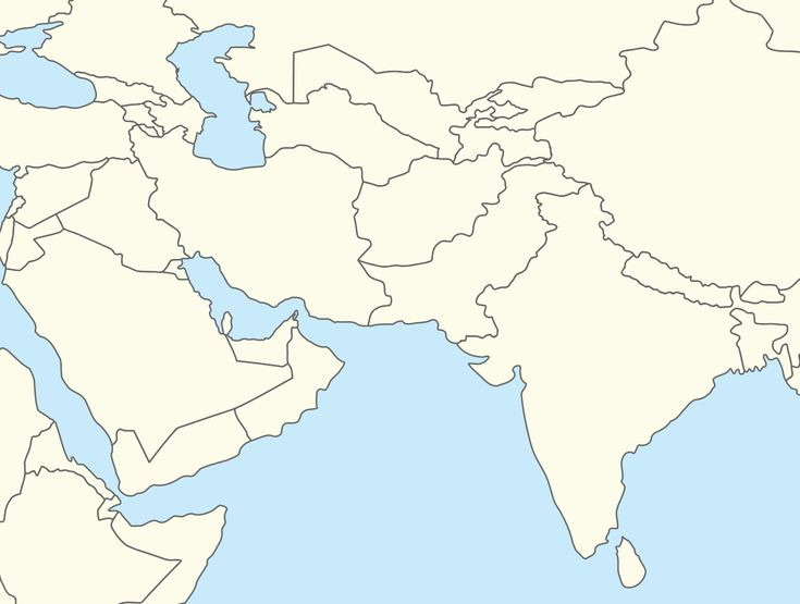 Outline Map Of Central Asia