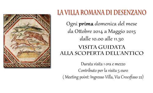 Ogni prima domenica del mese si tiene la visita guidata alla Villa Romana di #Desenzano del Garda