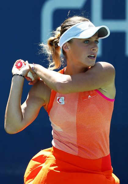 Ana Bogdan of Romania returns a shot to Taylor Townsend of the United States during their first round Women's Singles match on Day Three of the 2017 US Open at the USTA Billie Jean King National Tennis Center on August 30, 2017 in the Flushing neighborhood of the Queens borough of New York City. (Aug. 29, 2017 - Source: Al Bello/Getty Images North America)