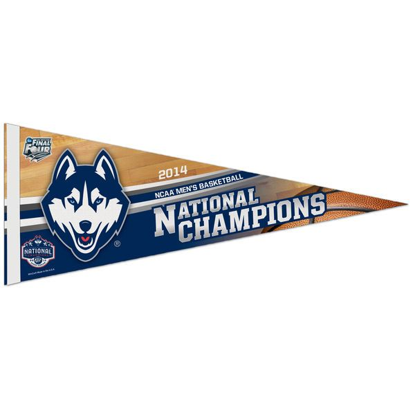 "WinCraft UConn Huskies 2014 NCAA Men's Basketball National Champions 12"" x 30"" Premium Felt Pennant - $8.99"