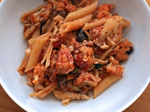 puttanesca sauce pasta puttanesca with hot sausage and bocconcini ...