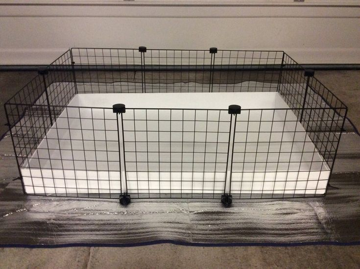 """2x3 CC Guinea Pig Cage 14"""" x 14"""" Wire Grid Black/White Panel Cage with White  Corrugated Plastic Rabbit Hedgehog 3 Panels Long 2 Panels Wide by LilFroggyDesigns on Etsy https://www.etsy.com/listing/536277445/2x3-cc-guinea-pig-cage-14-x-14-wire-grid"""