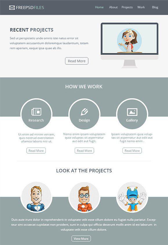 25+ ide terbaik tentang Free Email Templates di Pinterest Desain - professional email template