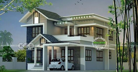 Modern Mixed Roof Kerala Home Design 2047 Sq Ft Kerala House Design House Balcony Design Kerala Houses