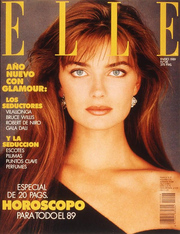Paulina Porizkova -  Elle Spain Jan 1989