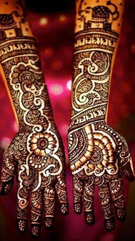 let's take a look at these breathtaking full hand #mehndi designs to make you look oh-so-beautiful! #mehndi #mehndidesigns #hand mehndi