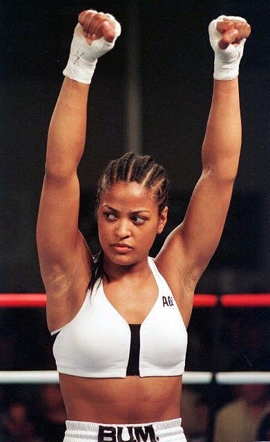 Although other woman have proven to be heroes and pioneers of women's boxing, none have transformed the sport into what it is today more than Laila Ali—daughter of the great Muhammad Ali. At the age of 21, Ali made her professional debut at the Turning Stone Casino in New York. Her opponent Jacquie Frazier-Lyde, was the daughter of long-time Ali nemesis Joe Frazier. Over 100,000 people payed to watch Ali win the pay-per-veiw event in eight rounds.