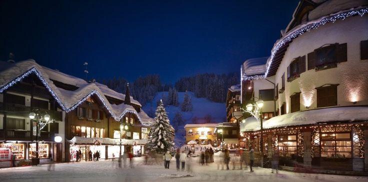The village at night - Madonna Di Campiglio Ski Resort, Italy