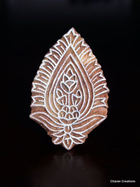 Hand Carved Indian Wood Stamp Block by charancreations on Etsy