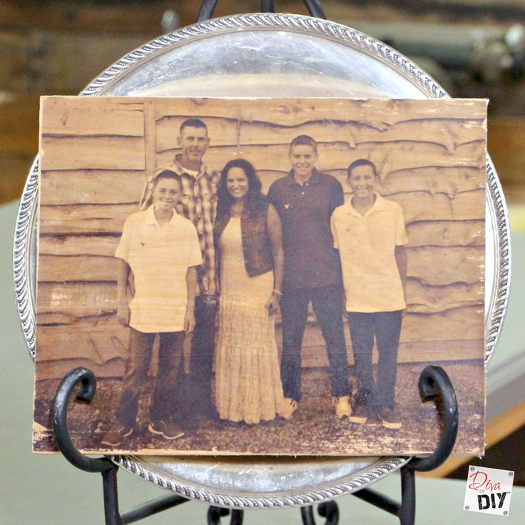 Transferring photos to wood is one of my favorite DIY photo ideas! These are perfect for wedding gifts! I love sepia or black and white photos for these.