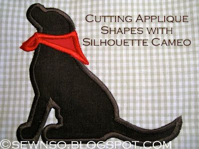 How to create applique with Silhouette Cameo