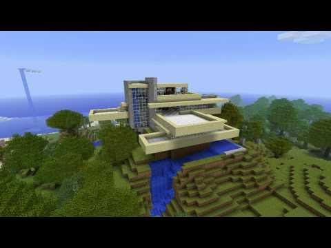Minecraft: Fallingwater.  The National Historic Landmark Falling Water By Frank Lloyd Wright. 28.7. 2014, NCO eCommerce, www.netkaup.is