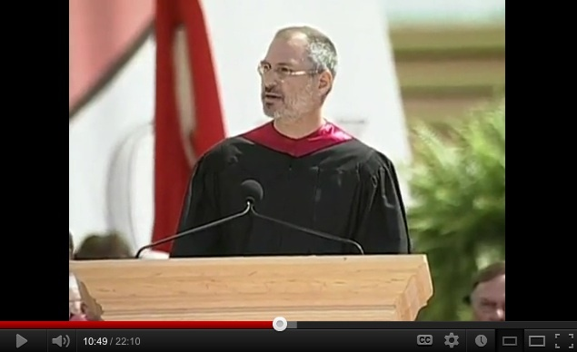 Steve Jobs' 2005 Stanford Commencement Address (with intro by President John Hennessy). Click anywhere on the picture to hear Steve's Commencement Address.