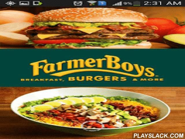 Farmer Boys  Android App - playslack.com ,  JOIN. EAT. EARN. REDEEM. Earn rewards for every Farmer Boys visit with the new Farmer Boys Very Important Farmer (VIF) Loyalty Program. Find the closest location, earn rewards and access menus - all from the Farmer Boys app! Farmer Boys VIF Mobile Loyalty Program:• Earn 1 reward point for every $1 purchase.• Every time you spend $60, you'll receive a $5 credit.• Login and join with Facebook to earn 10 FREE points!• Get 15 FREE points for referring…